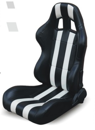 High performance universal sport car seats / black and white bucket seats